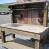 "62"" x 30"" x 72"" Salvaged Wood  Potting Bench $565.00"